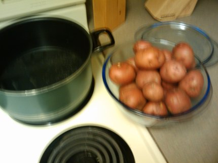 Small bag of red potatoes